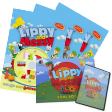 Lippy and Messy - Songs and Games 1, 2, 3 (1-30) a ABC (1-26) + dárek